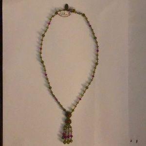 Liz Palacios crystal necklace
